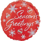 18'' Holographic Red Seasons Greetings