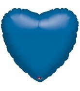 "32"" Metallic Blue Heart"