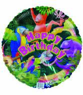 "18"" Tropical Jungle Happy Birthday"