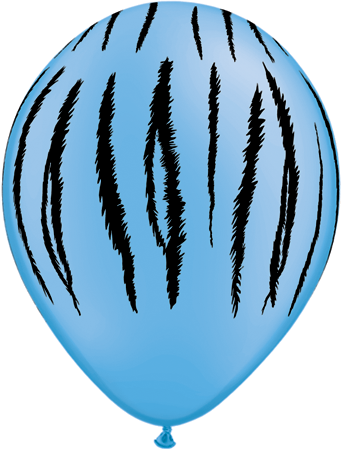"11"" Tiger Stripes Latex balloons Neon Blue"
