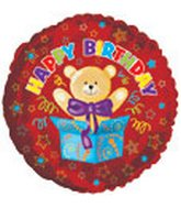"18"" Happy Birthday Bear in Box"