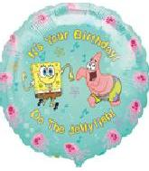 "18"" Spongebob Your Birthday"