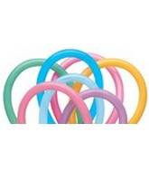 350Q Vibrant Assorted Twisting Animal Balloons