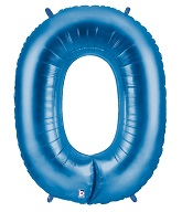"40"" Large Number Balloon 0 Blue"