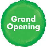 "18"" Grand Opening Green Anagram Brand"