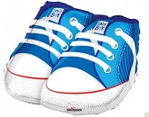 "21"" Baby Boy Shoes Shape Mylar Balloon"