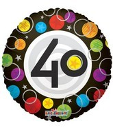 "18"" Foil Balloon Number 40 Dots"