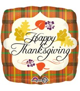 "18"" Thanksgiving Plaid Balloon"