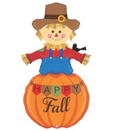 5' Foil Shape Special Delivery Happy Fall Scarecrow