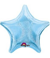 "32"" Jumbo Holographic Star Blue Dazzler Star Balloon"