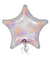 "32"" Jumbo Holographic Star Iridescent Jumbo Star Balloon"