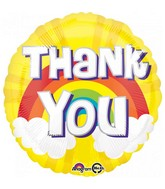"18"" Thank You Rainbow Foil Balloon"
