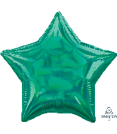"18"" Iridescent Green Star Foil Balloon"
