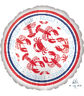 "18"" Seafood Fest Foil Balloon"