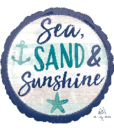 "18"" Sea, Sand & Sun Foil Balloon"