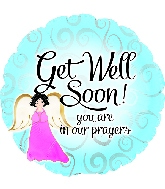 "17"" Get Well Soon Angel Foil Balloon"