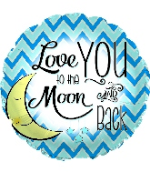 "18"" Love You To the Moon Blue Foil Balloon"