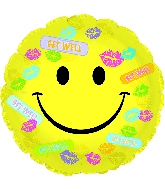 "17"" Get Well Bandaids & Kisses Balloon"