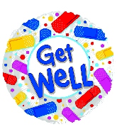 "17"" Get Well Colorful Bandaids Balloon"