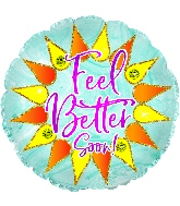 "18"" Feel Better Sparkle Foil Balloon"