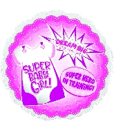 "18"" Super Hero Baby Girl Foil Balloon"
