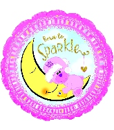 "18"" Born To Sparkle Baby Girl Foil Balloon"
