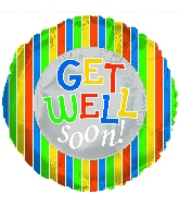 "18"" Get Well Soon Boy Foil Balloon"