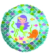 "18"" Mermaid Friends Foil Balloon"