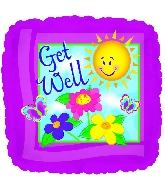 "17"" Get Well Sun Foil Balloon"
