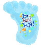 "30"" It's a Baby Boy Foot"