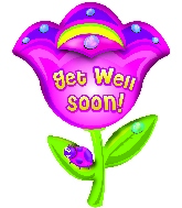 "32"" Get Well Soon Flower B260"