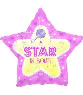 "18"" Star Is Born - Pink Foil Balloon"