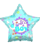 "17"" It's A Boy Stork Star Balloon"
