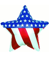 "31"" Patriotic Star Foil Balloon"