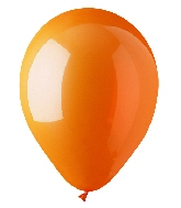 "12"" Standard Orange Latex (100 Per Bag)"