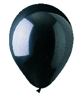 "12"" Crystal Black Onyx Latex (100 Per Bag)"