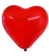 "12"" 100 Count Crystal Red Heart Balloon"