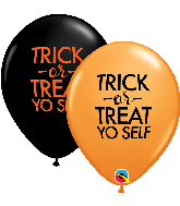 "11"" Trick-or-Treat Yo Self Latex Balloons (50 Per bag)"