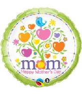 "18"" Mother'S Day Blooming Hearts Foil Balloon"