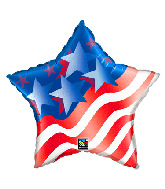 "20"" Stars & Stripes Foil Balloon"