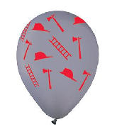 "12"" Cool Gray Fire Fighter Latex Balloons (50 Per Bag)"