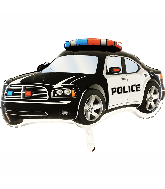 "31"" Police Car Black Foil Balloon"