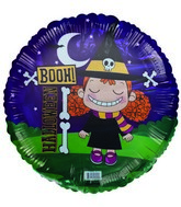"18"" Booh! Halloween Cute Witch Foil Balloon"