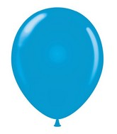 "24"" Round Blue Latex Balloons 5 Count"