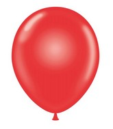 "24"" Round Red Latex Balloons 5 Count"