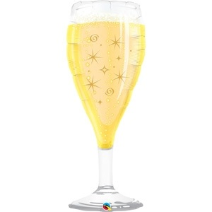 "39"" Bubbly Wine Glass Jumbo Balloon"