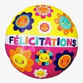 "21"" ColorBlast Félicitations Flower Squares Balloon"