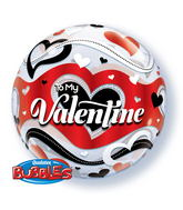 "22"" To My Valentine Banner Bubble Balloons"