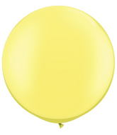 "30""  Qualatex Latex Balloons  Pearl LEMON CHIFFON  02CT"