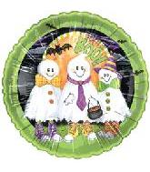 "18"" Many Ghosts Boo Green Border"